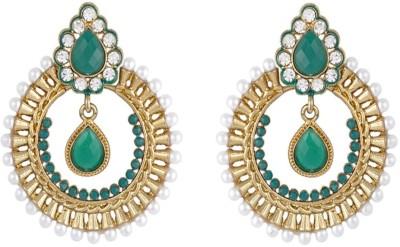 Royal Bling The Viridescent Brass Chandbali Earring