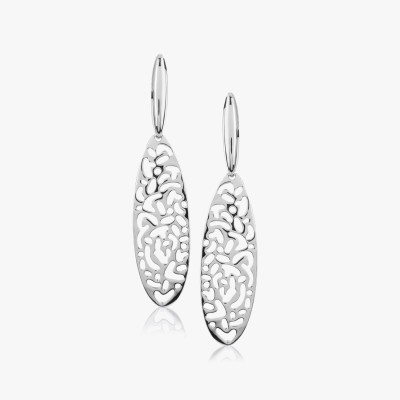 Shamoda Fashionable Silver Jaali Metal Dangle Earring