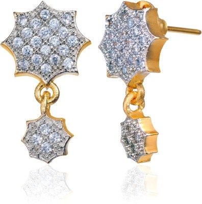 Fashion Fusion ES006504A Aaloka Cubic Zirconia Brass, Alloy Drop Earring
