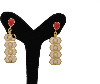 Arohi Jewells & Gems AJG47 Copper Earring Set