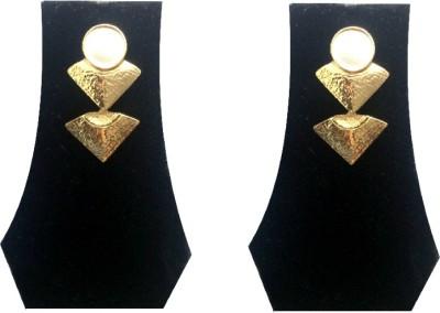 FashBlush Forever New Greek Inspired Tri Angle Elegant Alloy Drop Earring