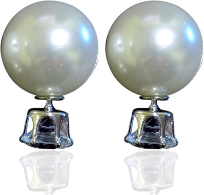 Subharpit Charming Beauty Pearl, Crystal Alloy Stud Earring