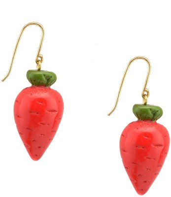 Trinketbag Carrot Resin Dangle Earring