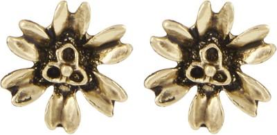 Shining Jewel Casual Sparkle Brass Stud Earring