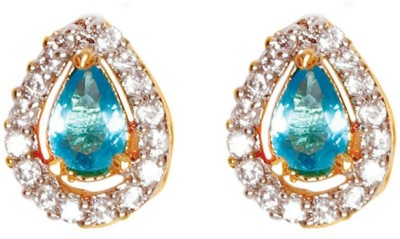 Sheetal Jewellery Cubic Zirconia Brass, Alloy Stud Earring