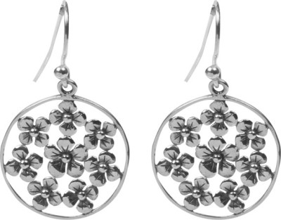 Jaipur Couture Bold Women Silver Drop Earring
