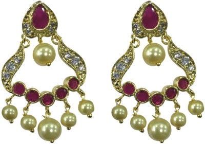 Sri Kapi Pearls FE132 Cubic Zirconia Alloy Chandbali Earring