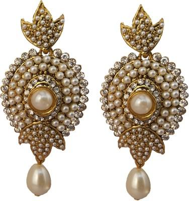 Utopian White pearl Alloy Drop Earring
