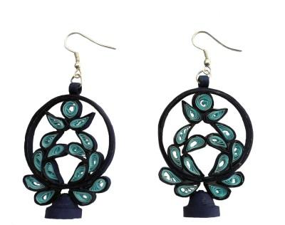 Designer's Collection Quilled Blue Designer Paper Dangle Earring