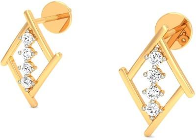Gold n Stone Kite Fiesta Diamond Gold Stud Earring