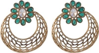 TM FASHIONS Spring Sparkle Brass Chandbali Earring