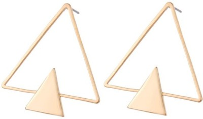 Bling N Beads Triangle Alloy, Silver Stud Earring
