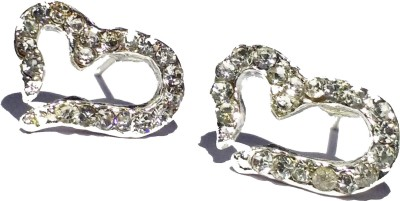 Ruvee Little Hearts Stone Alloy Stud Earring