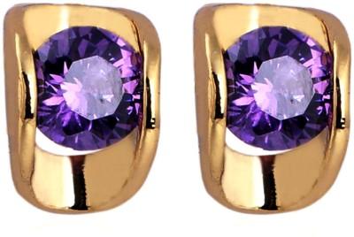 Ruvee Oyster Purple Diamond Zircon Alloy Stud Earring