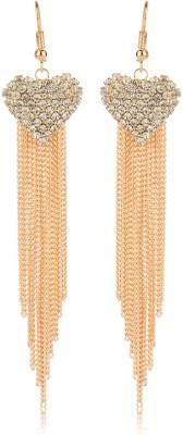 Moedbuille Royal Inspired Graceful CZ Studded Cubic Zirconia Alloy Dangle Earring