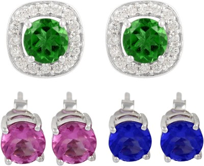 Exxotic Jewelz Contemporary Cubic Zirconia Sterling Silver Plug Earring
