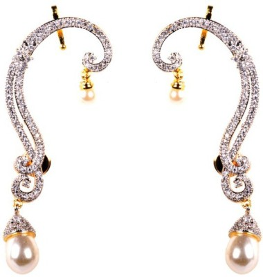 Dipshi Designer A D Stone Pearl Bridal Traditional Jewellery Copper Drop Earring
