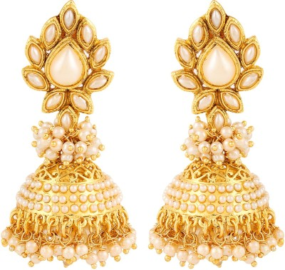 Adwitiya Collection Bright Delight Copper Jhumki Earring