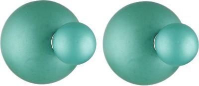 Aaishwarya Turquoise Frosted Double Alloy Stud Earring