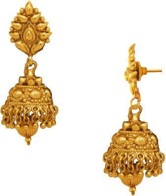 Donna Pure Floral Alloy Jhumki Earring