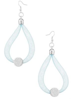 Gemshop Exceptional Cz Embellished Alloy Dangle Earring