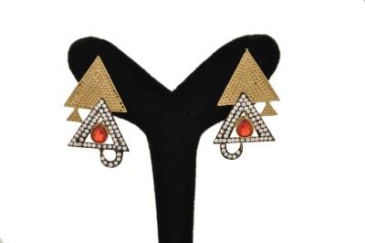 Arohi Jewells & Gems AJG7 Copper Earring Set