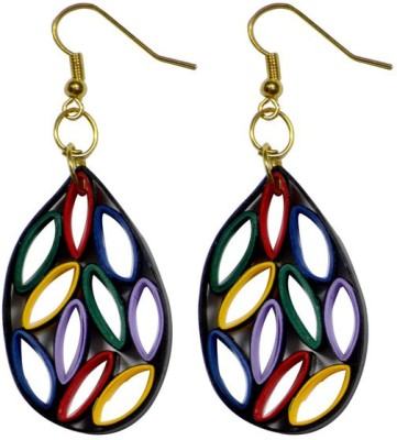 Trendmania Multi colored oval shape paper quilled earrings Paper Dangle Earring