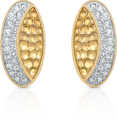 Oviya Crystal Alloy, Brass Stud Earring