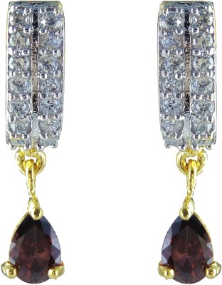 YUVEN Brown Color Zircon Brass, Alloy Drop Earring