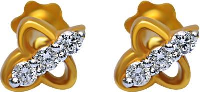 JacknJewel Yellow Gold 18kt Diamond Stud Earring
