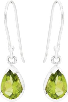 Kashvi Green Spark Peridot Silver Dangle Earring
