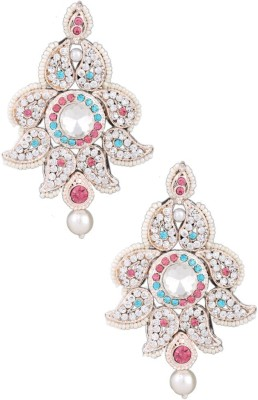 Belenteno Rose Color Plating Crystal Alloy Drop Earring