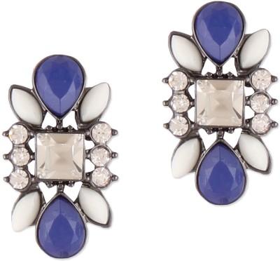 Oomph Blue & White Crystal Fashion Jewellery for Women, Girls & Ladies Metal Drop Earring