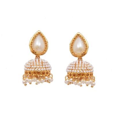 Ratnakar Small pearl zumkhi earing Alloy Jhumki Earring