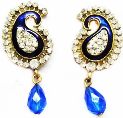 SB Fashions Blue earrings Brass Drop Earring