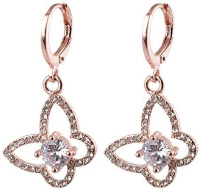 NK Jewels Cubic Zirconia Metal Dangle Earring, Drop Earring, Chandelier Earring