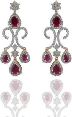 Chaahat Fashion Jewellery Fancy Cubic Zirconia Copper Chandelier Earring