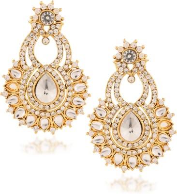 Fashionaya Silver Snob Cubic Zirconia Alloy Drop Earring