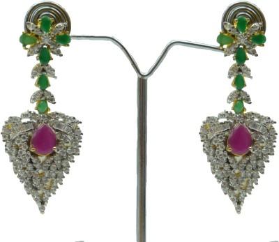 Aakhya EAR23P Diamond Rose Gold Drop Earring
