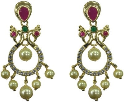 Sri Kapi Pearls FE123 Cubic Zirconia Alloy Chandbali Earring