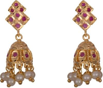 Mahaveer Pearls Ravishing Colored Brass Jhumki Earring