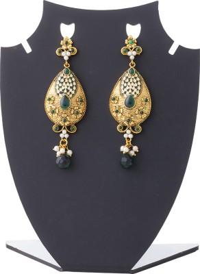 Aaina Home Decor Cubic Zirconia Copper Drop Earring