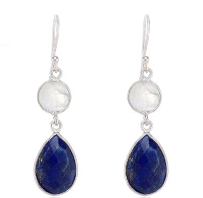 Aarohee Royal blue Lapis Lazuli Sterling Silver Dangle Earring