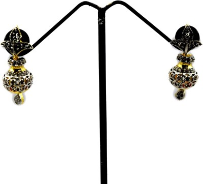 Bharat Sales Shining Or Pretty Looking In White Color Cubic Zirconia Alloy Earring Set
