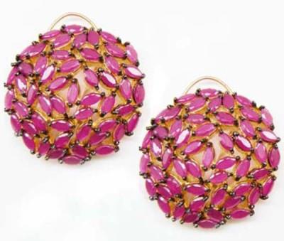 E-Designs ERG86GP257-1654 Cubic Zirconia Alloy Stud Earring