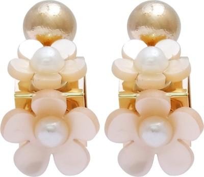Super Drool Pearl Flower Alloy Stud Earring