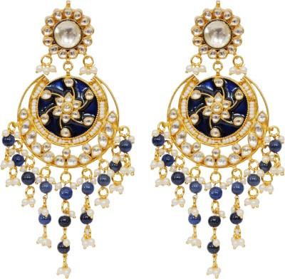 Khushbu Art Jewellers Kundan Alloy Chandelier Earring