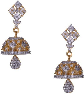 Mahaveer Pearls Flawless Beauty of New Brass Jhumki Earring