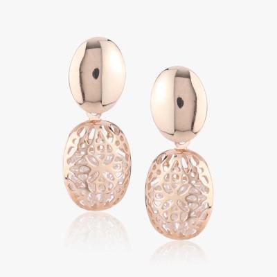 Shamoda Rose Gold Metal Dangle Earring