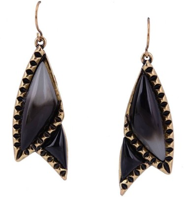 French Aura Vintage Statement Alloy, Resin Dangle Earring